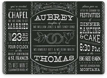 Bistro Board Wedding Invitations