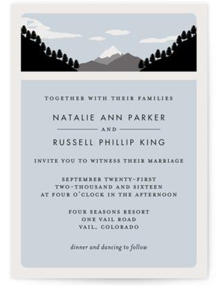 Holiday Mountain Wedding Invitations