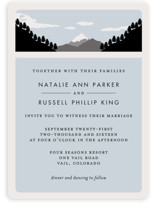 Holiday Mountain Wedding Invitations