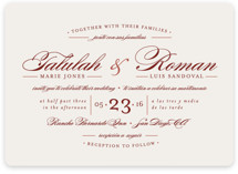 Love Language Wedding Invitations