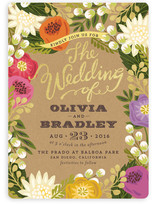 Floral Canopy Wedding Invitations