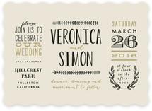 Organic Elegance Wedding Invitations