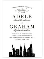 New York New York Wedding Invitations