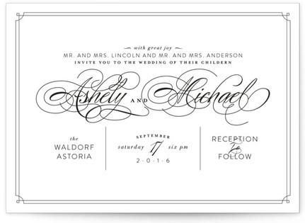 Edison Wedding Invitations