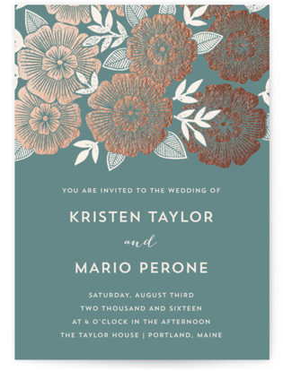 Asher Floral Wedding Invitations