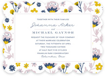 Springtime Florals Wedding Invitations