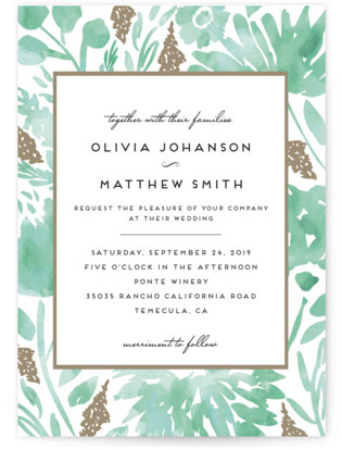 Watercolor Delight Wedding Invitations