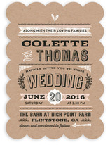 Romance Rustique Wedding Invitations