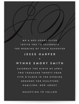Twirl Monogram A Wedding Invitations