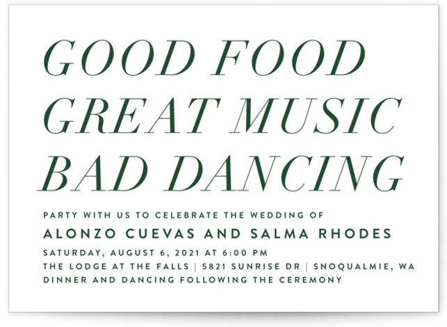 Bad Dancing Wedding Invitations
