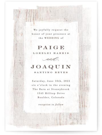 Barnwood Wedding Invitations