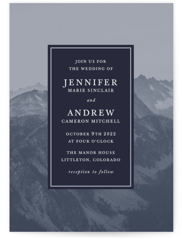 Modern Mountain Wedding Invitations