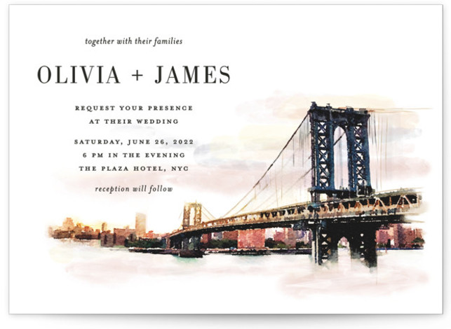 Bold city Wedding Invitations