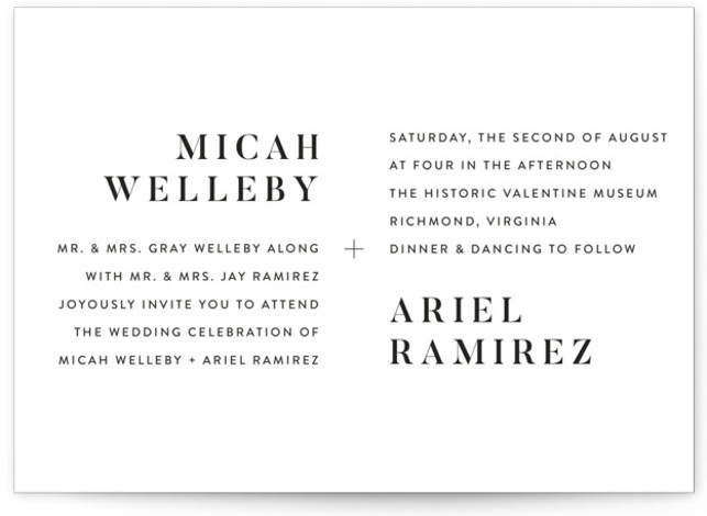 Harmonie Wedding Invitations