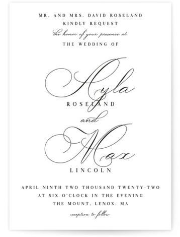 Sweet Nothings Wedding Invitations