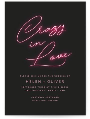 Crazy in Love Wedding Invitations