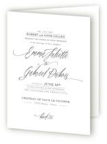 Opulence Four-Panel Wedding Invitations