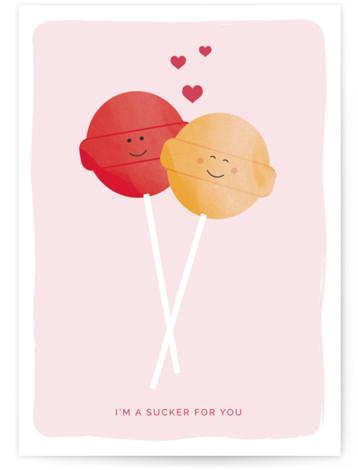 Sucker Valentine's Day Greeting Card