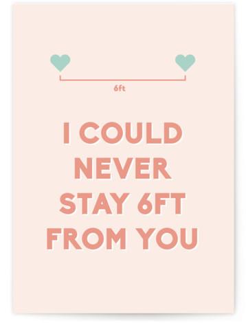 Social Distance Valentine Valentine's Day Greeting Card