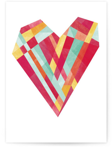 Bright Heart Valentine's Day Greeting Card