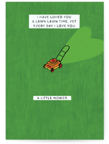 A Little Mower Valentine's Day Greeting Card