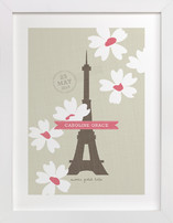 Spring Time in Paris Children's Custom Art Print