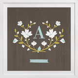 Woodland Initial Children's Custom Art Print