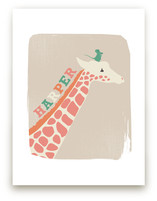 Giraffe and Mouse by kadie foppiano