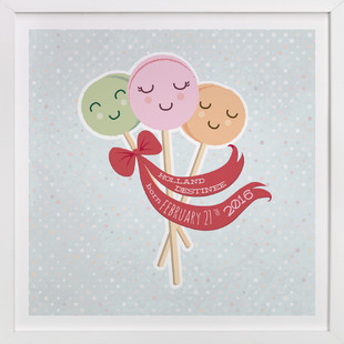 Macaroons On A Stick Children's Custom Art Print