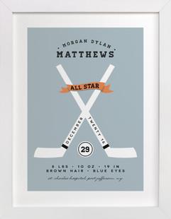 All Star Children's Custom Art Print