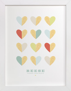 Engrained In Our Hearts Children's Custom Art Print