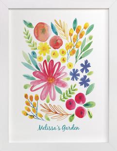My Little Garden Children's Custom Art Print