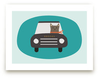 Driving Cat by b.wise papers