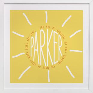 You Are My Sunshine Children's Custom Art Print