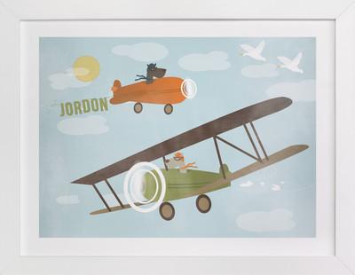 Up, Up and Away Children's Custom Art Print