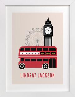 London Calling Children's Custom Art Print