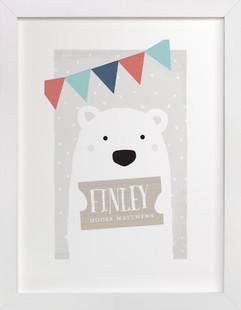 Polar Bear Children's Custom Art Print