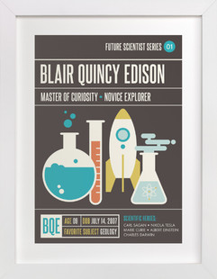 Scientific Exploration Children's Custom Art Print