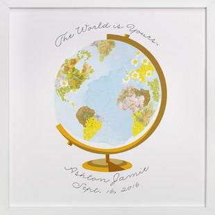 Flower Globe Children's Custom Art Print