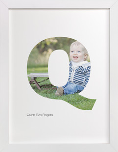 Q - Within Letters of You Children's Custom Photo Art Print