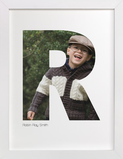 R - Within Letters of You Children's Custom Photo Art Print