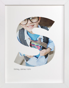 S - Within Letters of You Children's Custom Photo Art Print