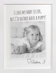 Kid's Quote Children's Custom Photo Art Print