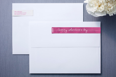 Frosted Watercolor Skinnywrap™ Address Labels