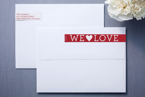 Happy Love Day Skinnywrap™ Address Labels