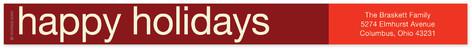 Chestnut Red Skinnywrap Address Labels