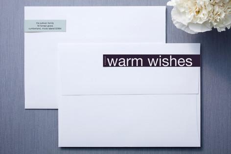 Plum and Foam Skinnywrap™ Address Labels