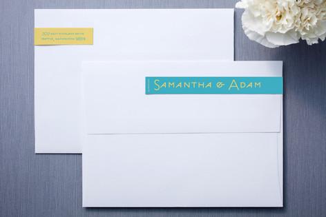 Caribbean Sea and Sunshine Skinnywrap™ Address Labels