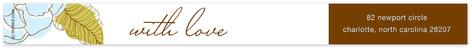 White and Chocolate Skinnywrap Address Labels