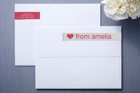 Cream and Fuchsia Skinnywrap™ Address Labels
